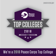 We're a 2018 Peace Corps Top College